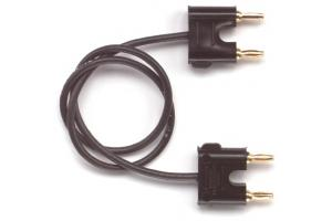 Double miniature banana plugs on RG174/U