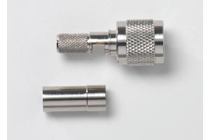 TNC Plug, 50 Ohm, Crimp Type, RG59, 62