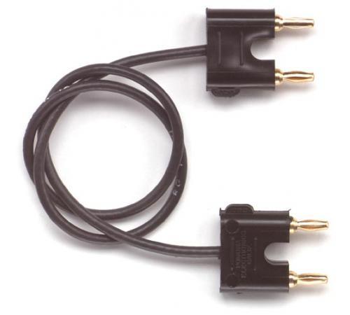 Double miniature banana plugs on RG174/U